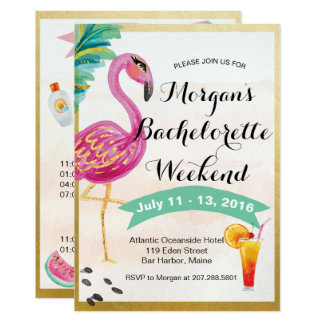 Girls Weekend Itinerary Invitation