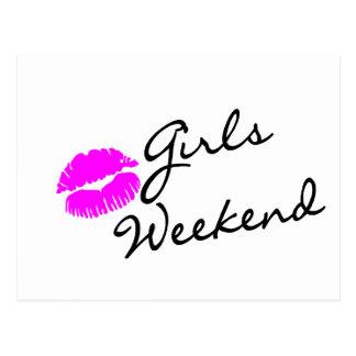 Girls Weekend (Kiss Blk) Postcard