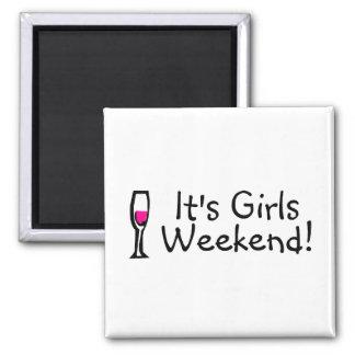 Girls Weekend Fridge Magnets
