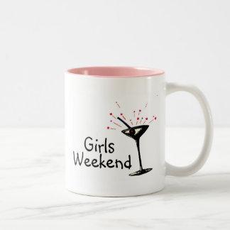 Girls Weekend (Martini 1) Two-Tone Coffee Mug