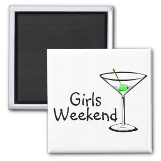 Girls Weekend Martini 2 Refrigerator Magnets