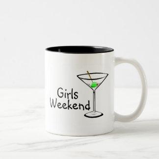 Girls Weekend Martini Two-Tone Coffee Mug