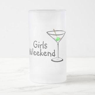 Girls Weekend Martini 16 Oz Frosted Glass Beer Mug