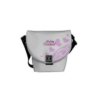 girls weekend night out party bridal wedding fun messenger bags