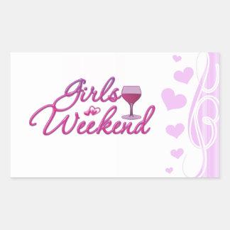 girls weekend night out party bridal wedding fun rectangular sticker