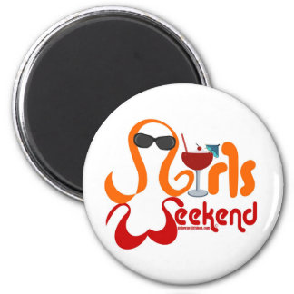 Girls Weekend Party 2 Inch Round Magnet
