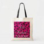 Girls weekend tote bag | pink black leopard print