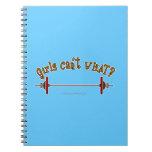 Girls Weightlifting Barbells Notebook