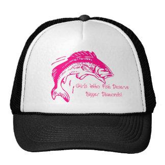 Girls Who Fish Deserve Bigger Diamonds Trucker Hat