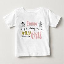 Girls Wild One 1st Birthday Shirt