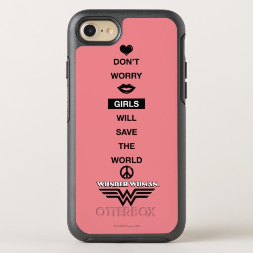 iPhone customize phone cases for iphone 4 : ... Save The World Wonder Woman Graphic OtterBox Symmetry iPhone 7 Case