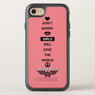 Girls Will Save The World Wonder Woman Graphic OtterBox Symmetry iPhone 8/7 Case