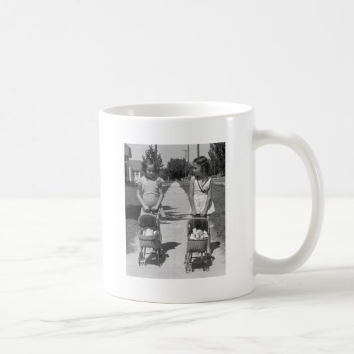 Girls with Dolls, 1941 Classic White Coffee Mug