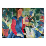 Girls with fish bell by August Macke Stationery Note Card