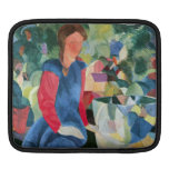 Girls with fish bell by August Macke iPad Sleeves