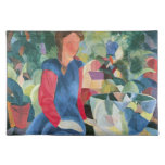 Girls with fish bell by August Macke Place Mat