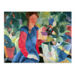 Girls with fish bell by August Macke Postcard