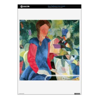 Girls with fish bell by August Macke PS3 Slim Console Decal