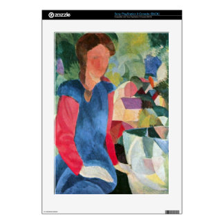 Girls with fish bell by August Macke Decal For The PS3