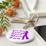Girls With Guns Have More Fun 2 Basic Round Button Keychain