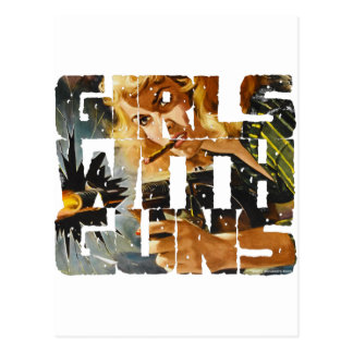 Girls with Guns Logo Post Cards