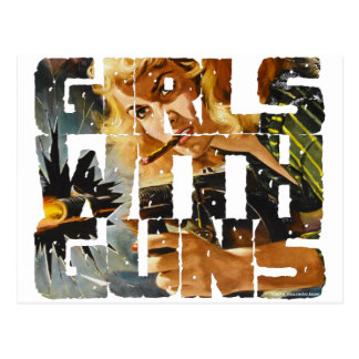 Girls with Guns Logo Post Card