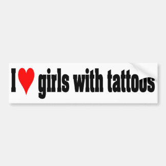 Girls With Tattoos Bumper Sticker