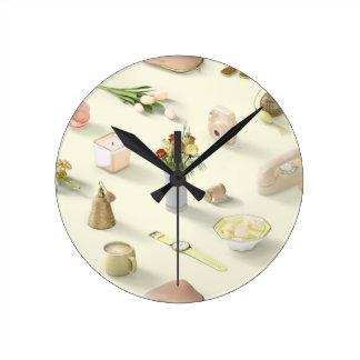 Girl's Yellow Dream Round Clock