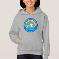 Girls Youth Point Fermin Elementary Logo Gray Hoodie
