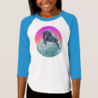 "Girl's Youth Unicorn Shirt ""Medium"" in Neon Blue"