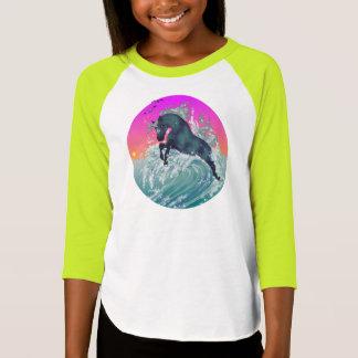 """Girl's Youth Unicorn Shirt """"Medium"""" in Neon Yellow"""