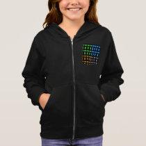 Girl's Zip Hoodie geometric  pattern