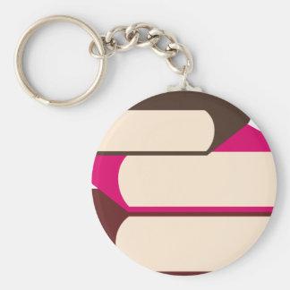GirlsBookCP10 Basic Round Button Keychain