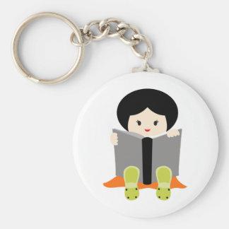 GirlsBookCP3 Basic Round Button Keychain