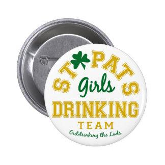GirlsDrinkingTeam 2 Inch Round Button