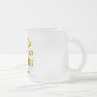 GirlsDrinkingTeam 10 Oz Frosted Glass Coffee Mug