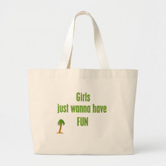 GirlsJustWannaHaveFUN Line Large Tote Bag