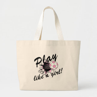 Girls's Soccer T-shirts and Gifts. Canvas Bags