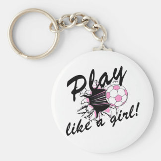 Girls's Soccer T-shirts and Gifts. Keychain