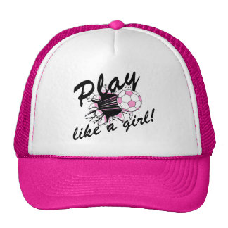 Girls's Soccer T-shirts and Gifts. Trucker Hat