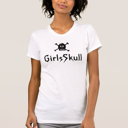 GirlsSkull Playera