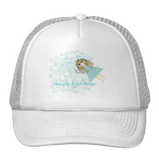 girlwandheartsBlue2 Trucker Hat