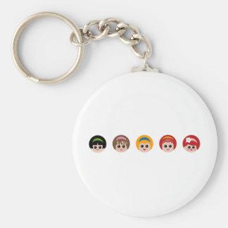 GirlWithHeadband3 Basic Round Button Keychain