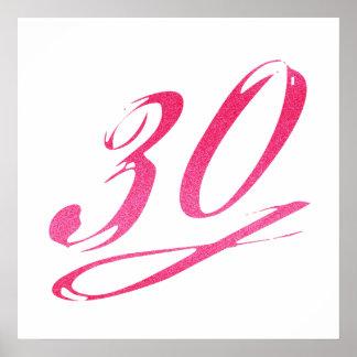 Girly 30th Birthday Poster