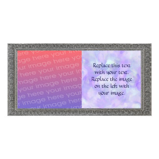 Girly Abstract in Soft Purple and Blue Card