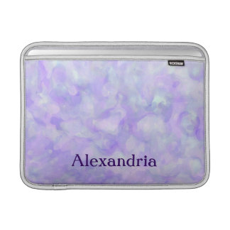 Girly Abstract in Soft Purple and Blue MacBook Air Sleeve