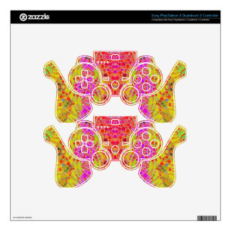 Girly Abstract PS3 Controller Skin