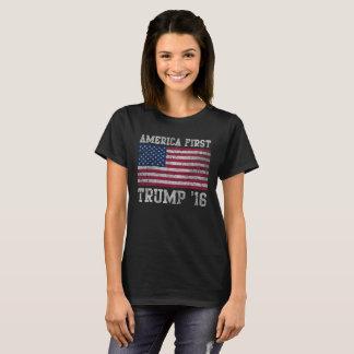 Girly American First Trump 16 T-Shirt