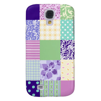 Girly and Fresh Pattern Squares Vector Quilt Galaxy S4 Cases