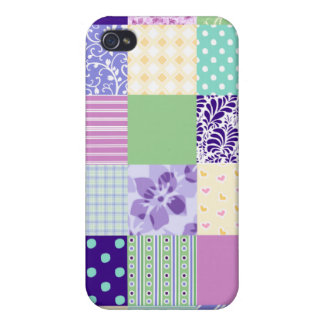 Girly and Fresh Pattern Squares Vector Quilt iPhone 4/4S Case